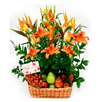 Fruit and Flowers Basket for Mom, Mexico