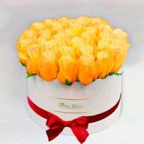 White Box of Yellow Roses, Mexico